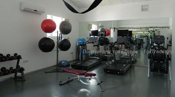 Офис компании FxPro на Кипре: спортивный зал