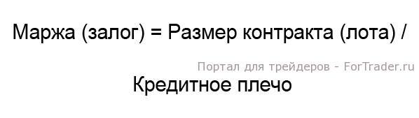 Рис. 1. Формула расчета маржи.